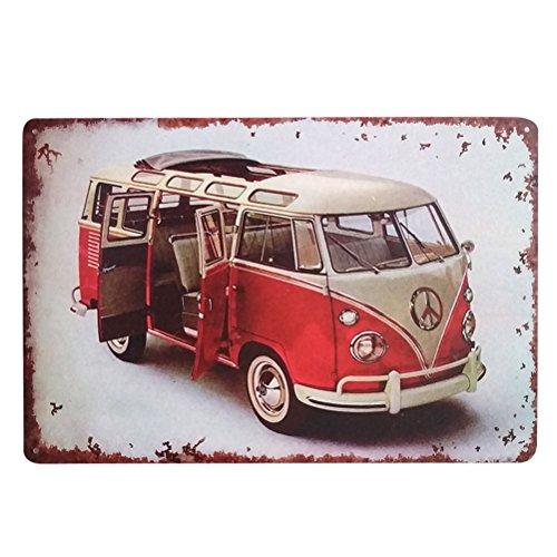 Winomo Cartel decorativo retro de estaño, metal, hierro para pared, hogar, bar, cafetería (autobús).