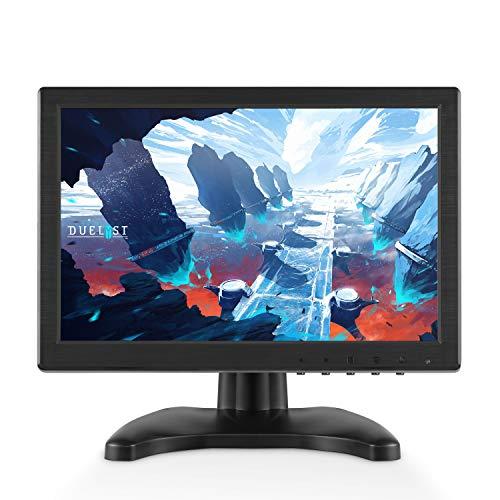 TOGUARD Monitor 10.1 Zoll überwachungsmonitor LCD IPS 1920 * 1200 HD Farbe Digital-Bildschirm, AV/HDMI/VGA/USB/BNC Videoeingang, eingebauter Lautsprecher