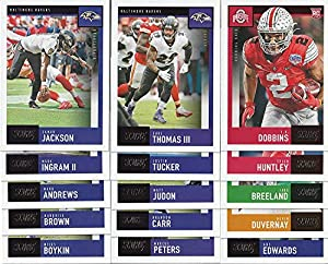 2020 Panini Score Football Baltimore Ravens Team Set 15 Cards W/Drafted Rookies Lamar Jackson