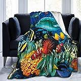 Etryrt Manta, Luxury Collection Microplush Flannel Fleece Blanket Ocean...