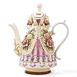 FORLONG FL5008 Large Teapot Ceramic Coffee Pot with Lid Vases Home Decor