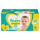 Diapers Size 4, 100 Count - Pampers Swaddlers Disposable Baby Diapers, Giant Pack