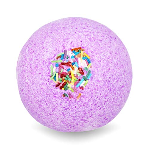 BIG Fizzy Bath Bomb Pink Unicorn - Riesen-Badekugel (240 g / 8.5 oz) | süsser Beerenduft, Zuckerstreusel