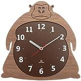 ヤマト工芸 Clock Zoo 掛け時計 ゴリラ YK14-003-ゴリラ ブラウン サイズ:約W29 D2.5 H29.5