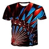 RWXXDSN T-Shirt 3DT pour Homme à Manches Courtes et col Rond T-Shirt décontracté d'été à Manches Courtes