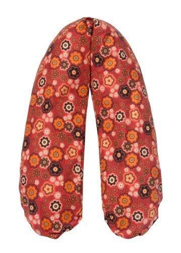 Joyfill Stillkissen Waschbarer Bezug für Flexofill Schwangerschaftskissen 190x40cm - 554 retro Blumen rot