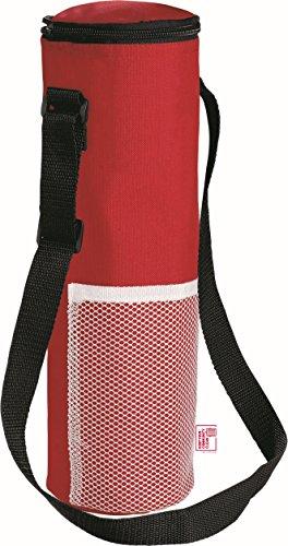 Isolierte Kühltasche mit Gurt für eine 1,5 Liter Flasche- Picknick Drinks Träger / Weinkühler von noTrash2003® (Rot)