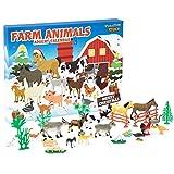 KreativeKraft Calendario Avvento 2021 con Animali Fattoria per Bambini, Calendario dell'avvento per Giochi della Fattoria, Advent Calendar Regalo Natale 2021