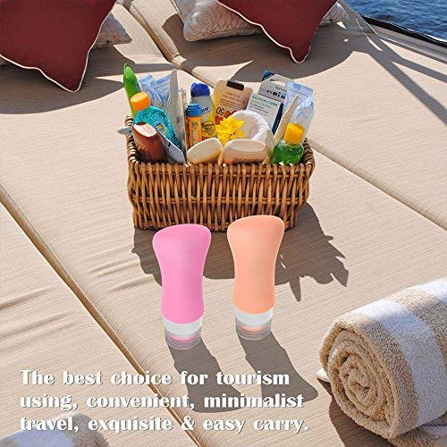 51GmXAsaBKL - 4 Pack Travel Bottles, TSA Approved Containers, 3oz Leak Proof Travel Accessories Toiletries,Travel Shampoo And Conditioner Bottles,Perfect for Business or Personal Travel, Fun Outdoors 9 Pieces