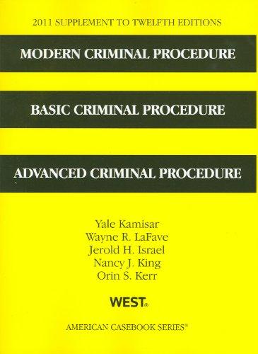 Modern Criminal Procedure, Basic Criminal Procedure, and...