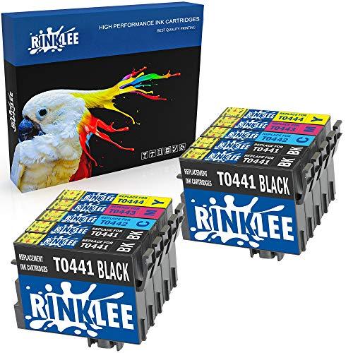RINKLEE 10 Kompatible T0445 T0441-T0444 Druckerpatronen Ersatz für Epson Stylus C64 C66 C68 C84 C86 CX3600 CX3650 CX4600 CX6400 CX6600