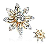 Covet Jewelry Round CZ Centered Marquise CZ Petal Flower Dermal Anchor Top (Gold)