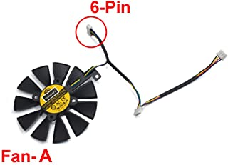 inRobert PLD09210S12HH Ventilador de Refrigeración de Repuesto Graphics Card Fan para ASUS Strix R9 390 X 390 RX 480 RX 580 GTX 980 Ti 1060 1070 1080 Gaming Graphic Card (Fan-A(6pin))