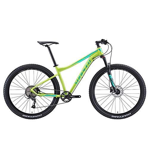 9 velocitagrave; Uomo Mountain Bike Telaio Alluminio Front Suspension Mountain Bike Unisex Hardtail Mountain Biciclette,Verde,29Inch
