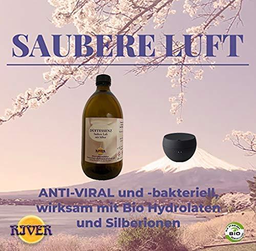 Saubere Luft, Luftreiniger mit Silberionen und Bio Hydrolaten für ein gesundes Raumklima ohne Chemie. Im Set mit Diffusor