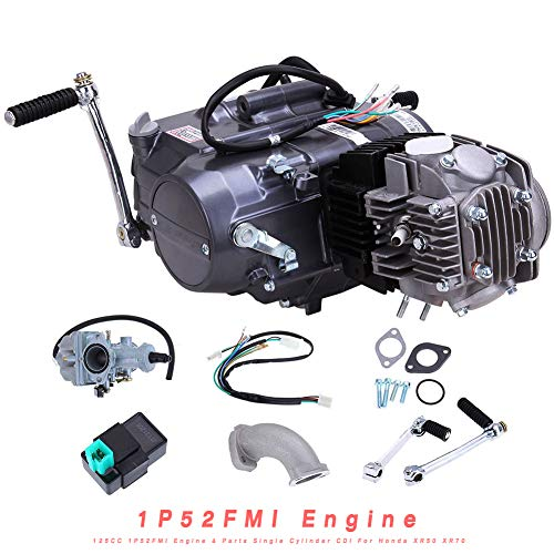 Engine TBVECHI 4Stroke 125CC 1P52FMI Engine & Parts Single Cylinder Capacitor Discharge Ignition For Honda XR50 XR70