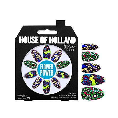 House Of Holland False Nails - Flower Power (24 Nails) [Flower Power, 4116704, LL_0602] by House of Holland