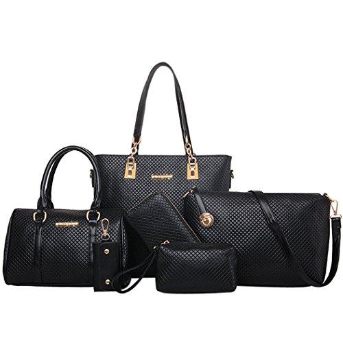 Coofit Borse Donna in Pelle borsa a spalla Tote Bag 6 set