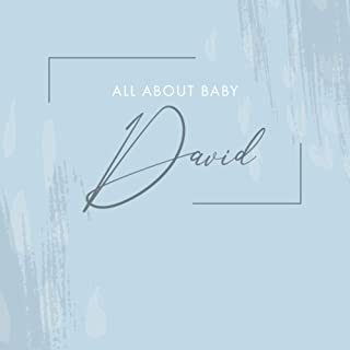 All About Baby David: [ Modern Baby Journal ] From Pregnancy to 1st Birthday - Minimalist Soft Blue Abstract Design