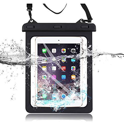 Topwin Universal iPad Waterproof Case, Dry Bag Pouch IPX8 Certified for iPad 7th, iPad 10.2, iPad Pro 10.5, New iPad 9.7 2017/2018, iPad Pro 9.7, iPad Air/Air 2, Tablets up to 11.5 Inch with Lanyard