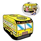 mysticall Pop Up Schulbus Spielzelt, Faltbare Kinderzelte Indoor Outdoor Spielhaus Auto Rollenspiel...