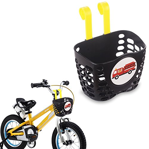 New Mini-Factory Kid's Bike Basket, Cute Fire Truck Pattern Bicycle Handlebar Basket for Boy - Fire ...