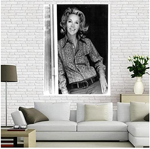 YUMKNOW Canvas Artwork Painting 23.6'x35.4' No Frame Beverly Garland Poster Film And Television Actors Star Posters And Prints Photo Portrait Pictures Home Decor
