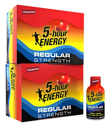 5-hour ENERGY Shot, Regular Strength Pomegranate, 1.93 Ounce, 24 Count