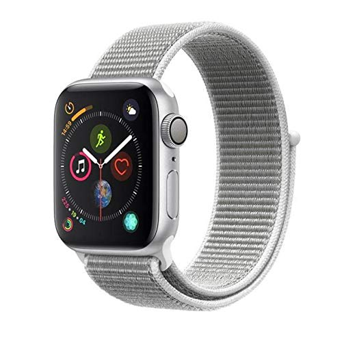Apple Watch Series 4, 40 mm, Alumínio Prata, Pulseira Esportiva Loop Cinza e Fecho Ajustável - Mu652bz/a