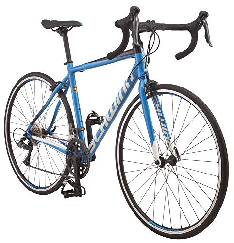 Schwinn Fastback AL Claris Adult Performance Road Bike, Beginner to Intermediate Bicycle Riders, 700c Wheels, 16-Speed Drivetrain, Extra Small Aluminum Frame, Blue