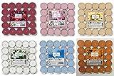 Prices 150 lumini profumati, Confezione Mista da 25 x 6 profumi, Fiori di Cotone, Bacche M...