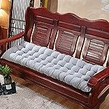 WUWEI Cojín de banco suave para 2 – 3 plazas, cómodo cojín de banco de jardín, colchón de repuesto largo para sofá de interior, muebles de exterior, cojín de silla columpio para tumbona