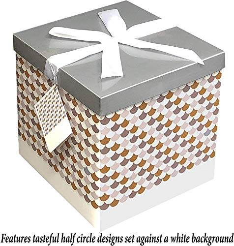 Gift Box Sienna 10x10x10 Pop up in Seconds Comes with Decorative Ribbon Mounted on The lid A Gift Tag and Tissue Paper - No Glue or Tape Required by EndlessArtUS