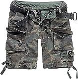 Brandit Savage Vintage Gladiator - Pantalón corto con cinturón a juego, muchos colores, también...