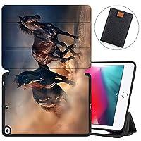 MAITTAO iPad Mini 7.9 5th Gen 2019 Case with Apple Pencil Holder, Folio Stand Smart Cover Soft TPU Protective Back Shell Auto Sleep/Wake iPad Mini 5 Case 2019/iPad Mini 4 4th 2015,Akhal-Teke Horse 2