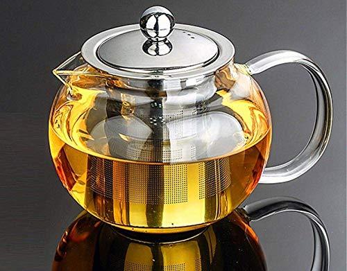Hervidor, juego de té de cerámica, hervidor de ace Tetera del té del tetal 1pc 350ml 500ml 800ml 950ml 1300ml Tetera de tetera de tetera de tetera Juego de té de té con infusor-500ml de acero inoxidab
