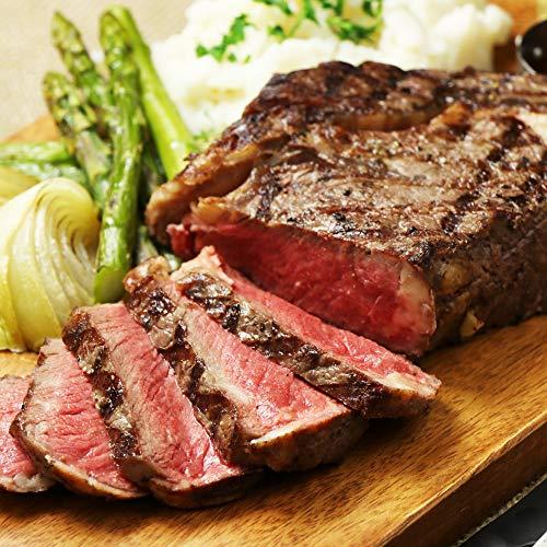 ミートガイ 超!厚切り 1ポンドリブロースステーキ グラスフェッドビーフ ニュージーランド産 (450g以上) 成長剤・ホルモン剤不使用 牧草牛肉