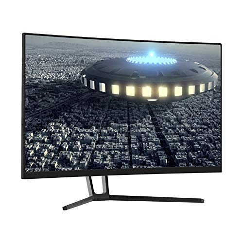 LC-Power 27 Zoll Gaming Curved Monitor (QHD, 3 HDMI, DisplayPort, Free-Sync, 144 Hz, 2560x1440, 1500R)