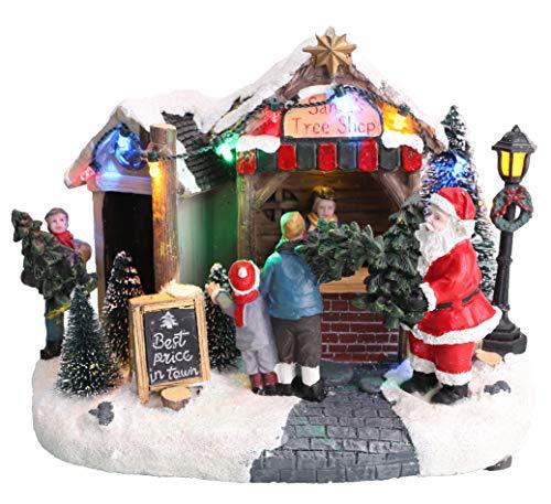 Christmas Concepts LED Light Up Christmas Village Scene - 8' / 20cm (Santa's Tree Shop)