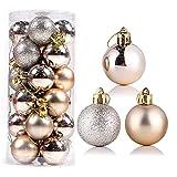 Betos 24 unids/set adornos de bola de Navidad, 15 cm inastillables bolas de Navidad juego de bolas colgantes de Navidad para árbol de Navidad vacaciones decoración de fiesta