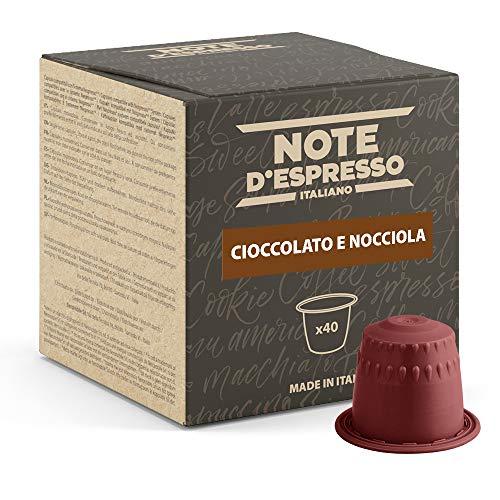 Note d'Espresso - Chocolate con Avellana - Cápsulas compatibles con Cafeteras de Cápsulas Nespresso* - 40 caps