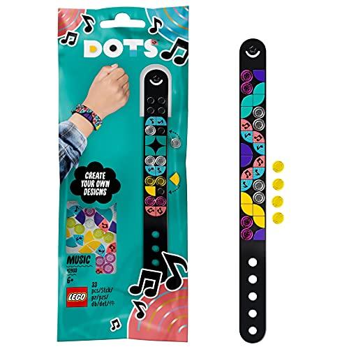 LEGO 41933 Dots Pulsera Notas Musicales, Juegos Creativos y Manualidades, Set de Pulseras y Joyas DIY para Niños y Niñas