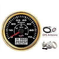 圧力計 85mm GPSスピードメーター 0-70ノット 0〜80MPH LCDディスプレイ付き マリンボートヨットの走行距離計 カーメーター (Color : D)