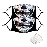 Loopardo Totenkopf Mundschutz Multifunktionstuch Halloween 3D Druck Maske Waschbar Winddicht...
