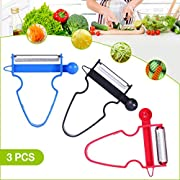 Vicious Teknology Magic Trio Peeler - Peel Cheese, Fruit, Veggie in Seconds with Sharp Stainless Steel Blade - 3PCS