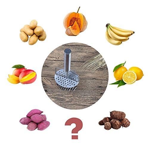 ZZM Kartoffelstampfer aus Edelstahl, Anti-Oxidation, langlebig, einfache Bedienung für Küche, Backen