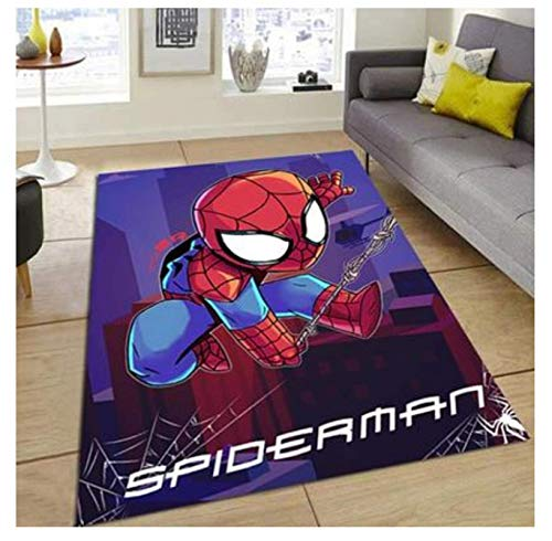 WallDiy The Avengers Kids Playmat Tapete de Felpa Alfombra de Felpa Alfombra Alfombra de habitación Alfombra Antideslizante Alfombra de Dibujos Animados de Varios tamaños para niños