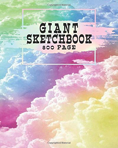 Giant Sketchbook 800 Page: Large Sketchbook Journal with Good quality Blank & white Paper. Best for crayons, colored pencils and very light fine tip ... gift for adults, kids, artists, students!