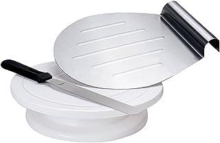 GA Homefavor Bandejas para Tartas Decoración de Pasteles de 28 cm Soporte Rotativo para Hornear, Incluye Espátula y Elevador de Pasteles