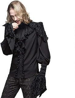 メンズシャツ メンズシャツファッション底入れシャツメンズ長袖ファッションスリム どの場面にも合わせやすい定番デザイン (Size : S)